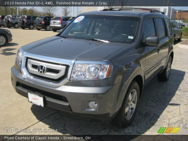 polished metal metallic  honda pilot   wd gray interior gtcarlotcom vehicle