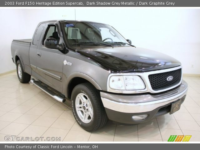 2003 Ford F150 Heritage Edition Supercab in Dark Shadow Grey Metallic