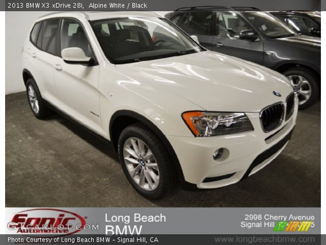 2013 BMW X3 xDrive 28i in Alpine White