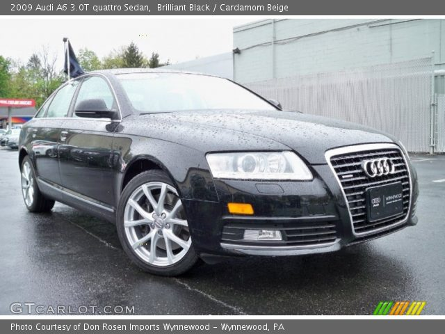 2009 Audi A6 3.0T quattro Sedan in Brilliant Black. Click to see large ...