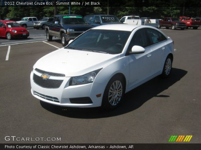 summit white 2012 chevrolet cruze eco jet black interior vehicle archive. Black Bedroom Furniture Sets. Home Design Ideas
