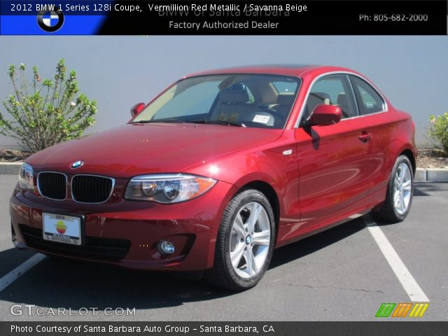2012 BMW 1 Series 128i Coupe in Vermillion Red Metallic