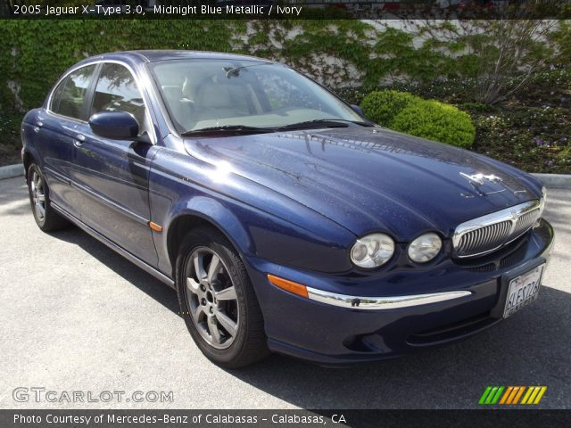 midnight blue metallic 2005 jaguar x type 3 0 ivory interior vehicle. Black Bedroom Furniture Sets. Home Design Ideas