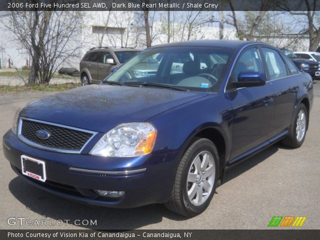 dark blue pearl metallic 2006 ford five hundred sel awd shale grey interior. Black Bedroom Furniture Sets. Home Design Ideas