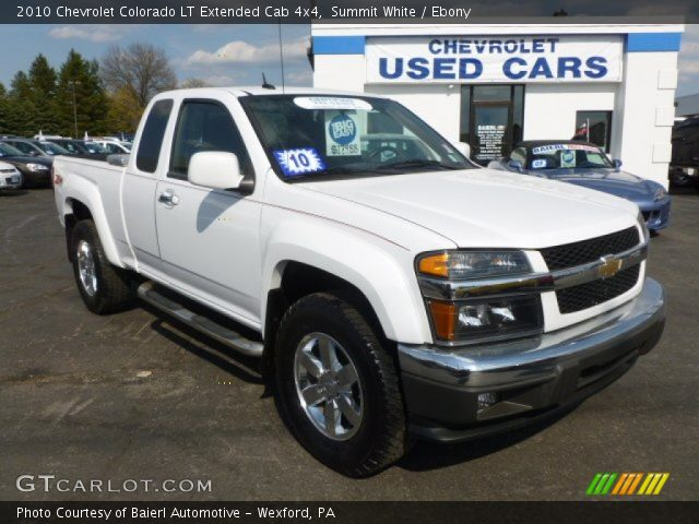 summit white 2010 chevrolet colorado lt extended cab 4x4. Black Bedroom Furniture Sets. Home Design Ideas