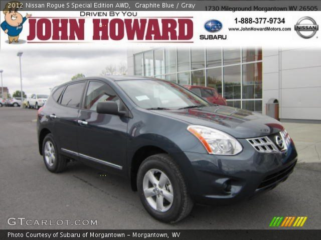 graphite blue 2012 nissan rogue s special edition awd gray interior vehicle. Black Bedroom Furniture Sets. Home Design Ideas