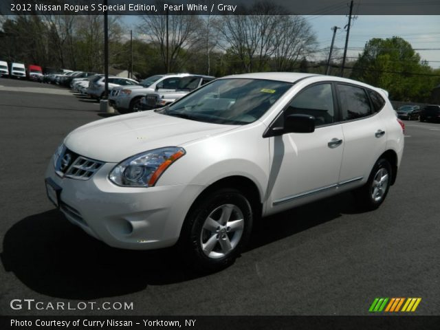 pearl white 2012 nissan rogue s special edition gray interior vehicle. Black Bedroom Furniture Sets. Home Design Ideas