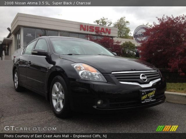 super black 2008 nissan altima 3 5 sl charcoal interior vehicle archive. Black Bedroom Furniture Sets. Home Design Ideas