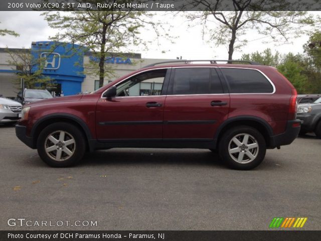 ruby red metallic 2006 volvo xc90 2 5t awd taupe interior vehicle archive. Black Bedroom Furniture Sets. Home Design Ideas