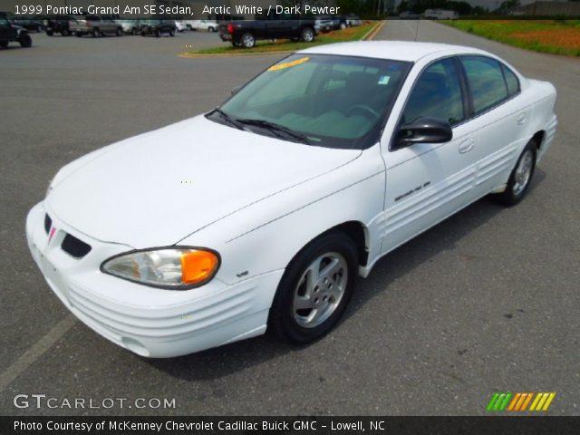 arctic white 1999 pontiac grand am se sedan dark pewter interior vehicle. Black Bedroom Furniture Sets. Home Design Ideas