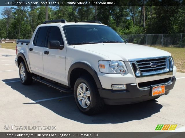 white suede 2010 ford explorer sport trac xlt charcoal black interior. Black Bedroom Furniture Sets. Home Design Ideas