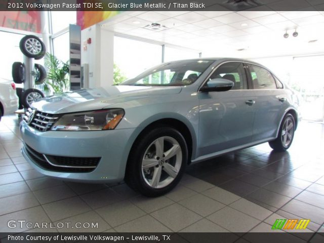glacier blue metallic 2012 volkswagen passat tdi se titan black interior. Black Bedroom Furniture Sets. Home Design Ideas