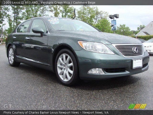 verdigris green mica 2009 lexus ls 460 awd cashmere. Black Bedroom Furniture Sets. Home Design Ideas