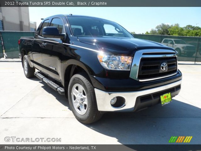 black 2012 toyota tundra sr5 double cab graphite interior vehicle archive. Black Bedroom Furniture Sets. Home Design Ideas