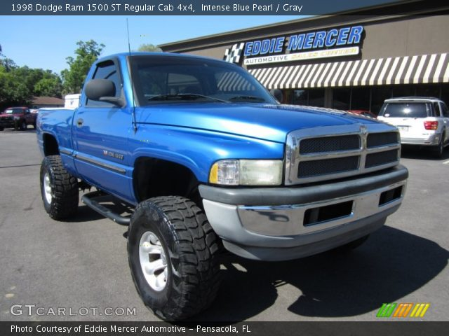 intense blue pearl 1998 dodge ram 1500 st regular cab 4x4 gray interior. Black Bedroom Furniture Sets. Home Design Ideas