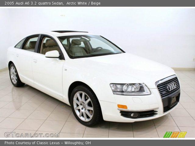 arctic white 2005 audi a6 3 2 quattro sedan beige interior vehicle archive. Black Bedroom Furniture Sets. Home Design Ideas