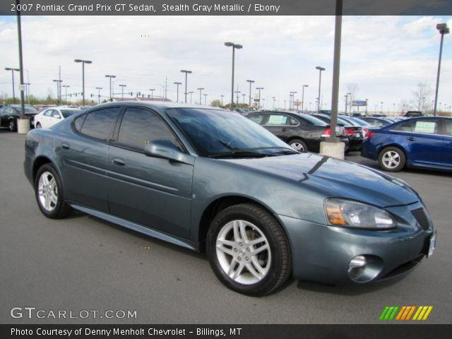 stealth gray metallic 2007 pontiac grand prix gt sedan ebony interior. Black Bedroom Furniture Sets. Home Design Ideas