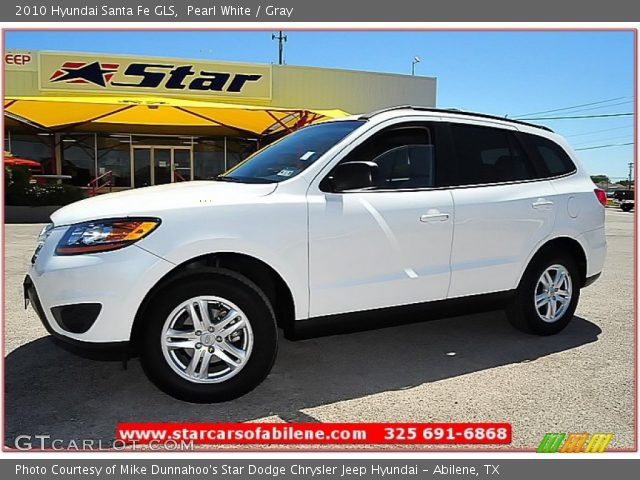 pearl white 2010 hyundai santa fe gls gray interior vehicle archive 64289094. Black Bedroom Furniture Sets. Home Design Ideas