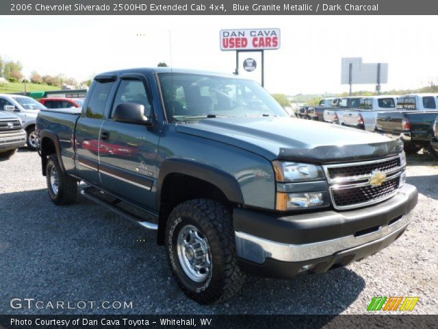 blue granite metallic 2006 chevrolet silverado 2500hd extended cab 4x4 dark charcoal. Black Bedroom Furniture Sets. Home Design Ideas