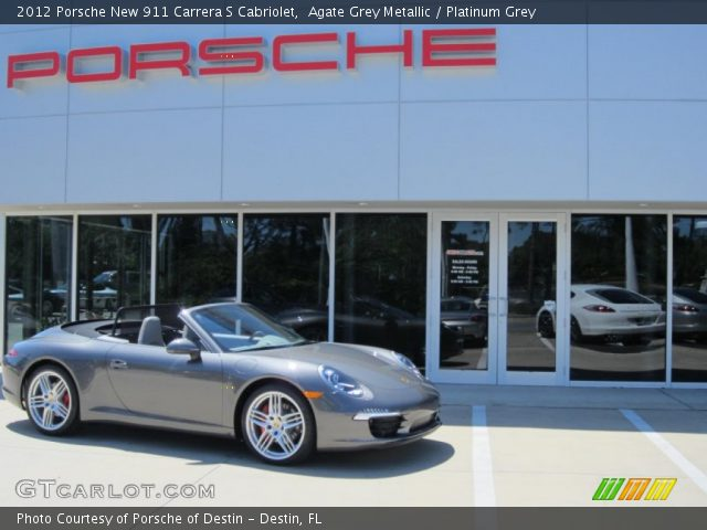 2012 Porsche New 911 Carrera S Cabriolet in Agate Grey Metallic