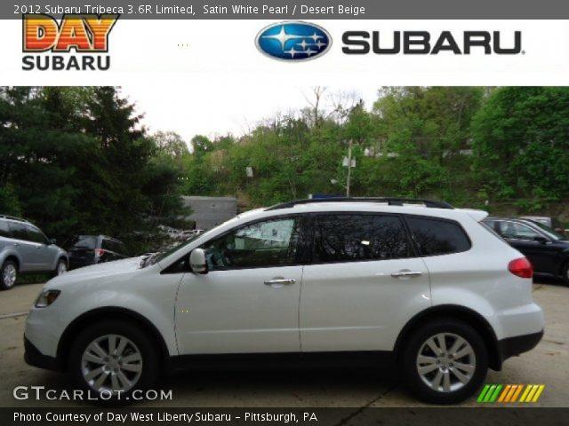 Satin White Pearl 2012 Subaru Tribeca 36r Limited Desert Beige