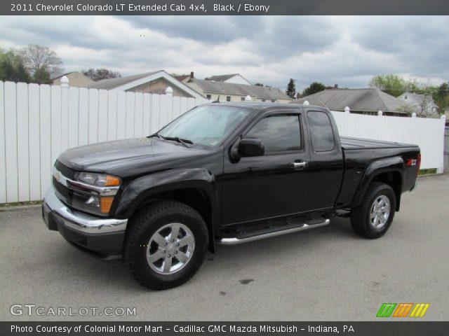 black 2011 chevrolet colorado lt extended cab 4x4. Black Bedroom Furniture Sets. Home Design Ideas