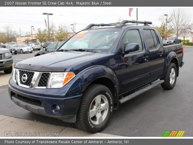 majestic blue 2007 nissan frontier se crew cab 4x4 steel interior vehicle. Black Bedroom Furniture Sets. Home Design Ideas