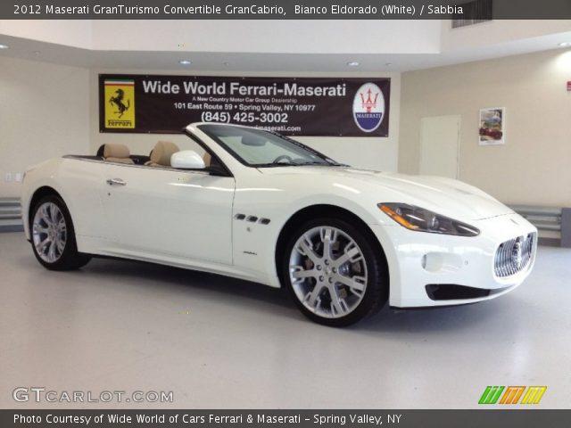 2012 Maserati GranTurismo Convertible GranCabrio in Bianco Eldorado (White)