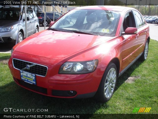 passion red 2005 volvo s40 t5 awd off black interior vehicle archive 64404430. Black Bedroom Furniture Sets. Home Design Ideas