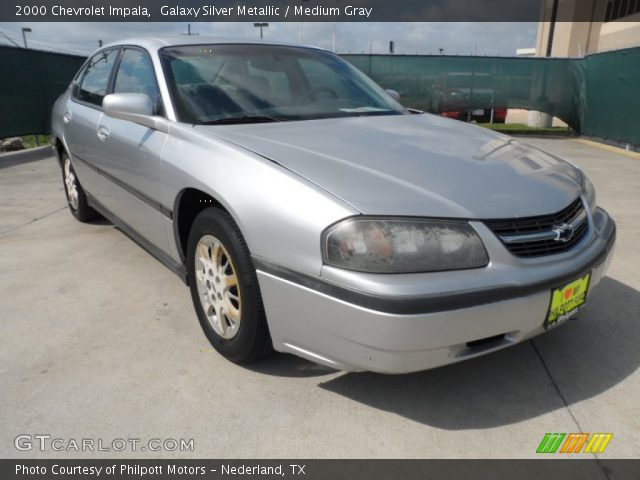 galaxy silver metallic 2000 chevrolet impala medium gray interior vehicle. Black Bedroom Furniture Sets. Home Design Ideas