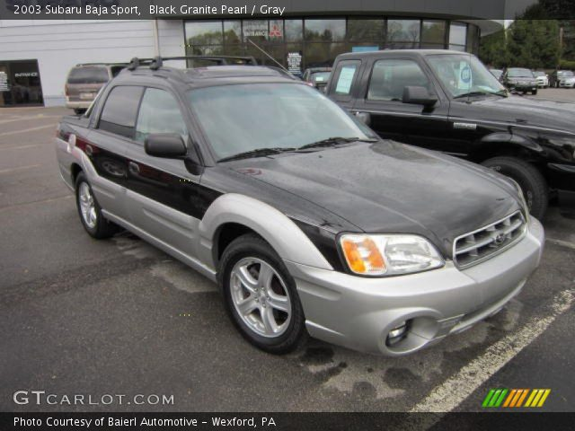 black granite pearl 2003 subaru baja sport gray. Black Bedroom Furniture Sets. Home Design Ideas