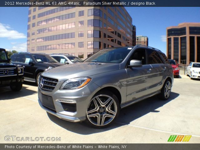 2012 Mercedes-Benz ML 63 AMG 4Matic in Palladium Silver Metallic