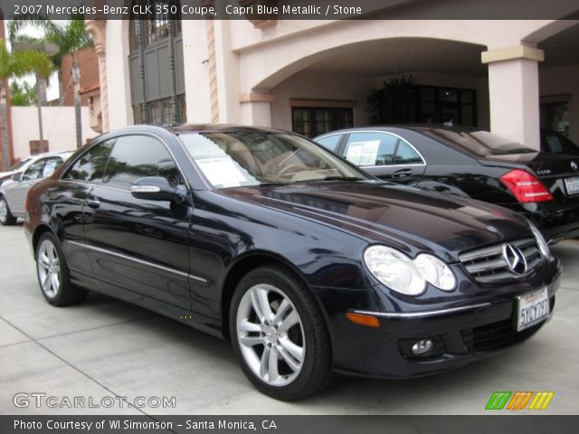 Capri blue metallic 2007 mercedes benz clk 350 coupe for 2007 mercedes benz clk
