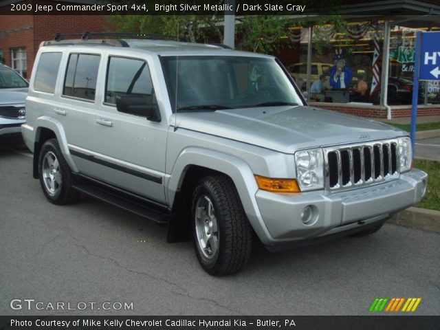 bright silver metallic 2009 jeep commander sport 4x4. Black Bedroom Furniture Sets. Home Design Ideas