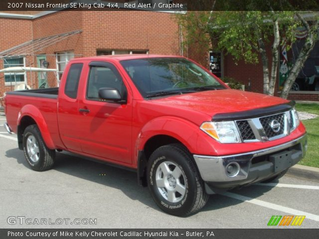 red alert 2007 nissan frontier se king cab 4x4 graphite interior vehicle. Black Bedroom Furniture Sets. Home Design Ideas