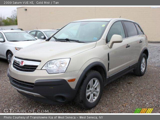 Gold Mist 2009 Saturn VUE XE with Tan interior