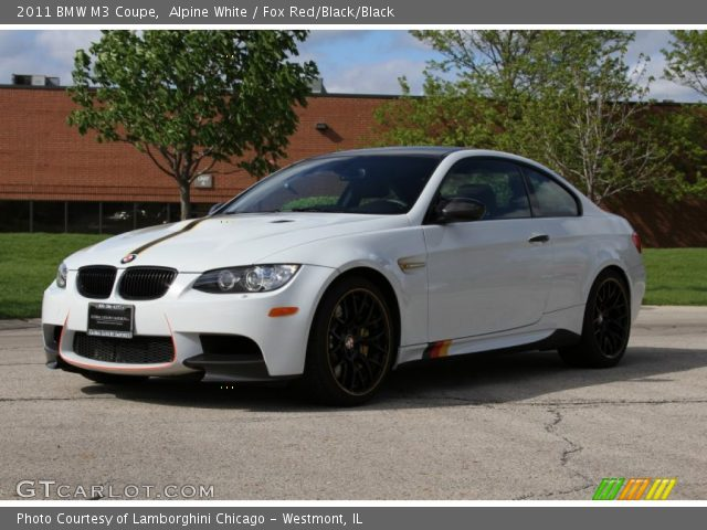 Alpine White - 2011 BMW M3 Coupe - Fox Red/Black/Black ...  Alpine White - ...