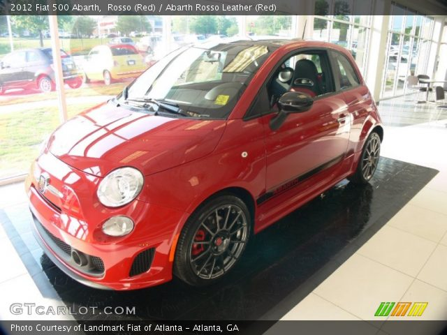 2012 Fiat 500 Abarth in Rosso (Red)