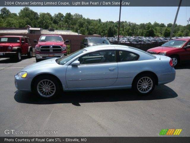 2004 chrysler sebring limited coupe in light blue pearl. Black Bedroom Furniture Sets. Home Design Ideas