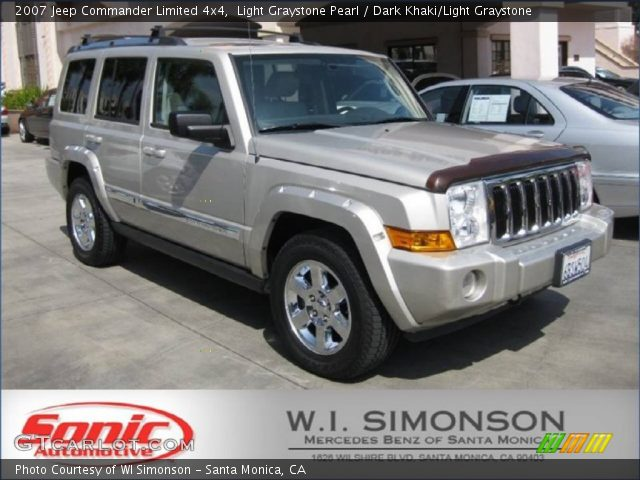 light graystone pearl 2007 jeep commander limited 4x4. Black Bedroom Furniture Sets. Home Design Ideas