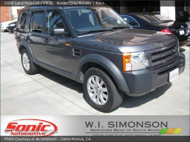bonatti grey metallic 2006 land rover lr3 v8 se black interior vehicle. Black Bedroom Furniture Sets. Home Design Ideas