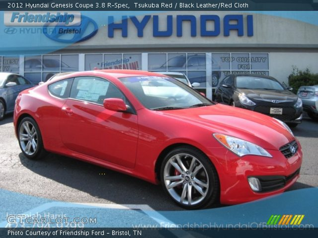 tsukuba red 2012 hyundai genesis coupe 3 8 r spec black leather red cloth interior. Black Bedroom Furniture Sets. Home Design Ideas