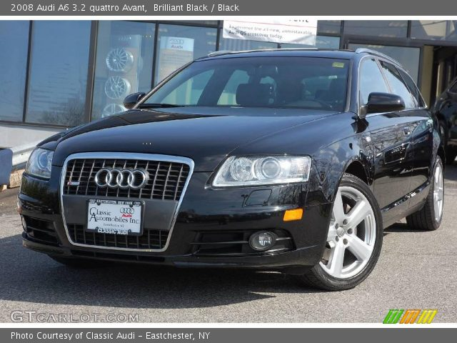 brilliant black 2008 audi a6 3 2 quattro avant black interior vehicle. Black Bedroom Furniture Sets. Home Design Ideas