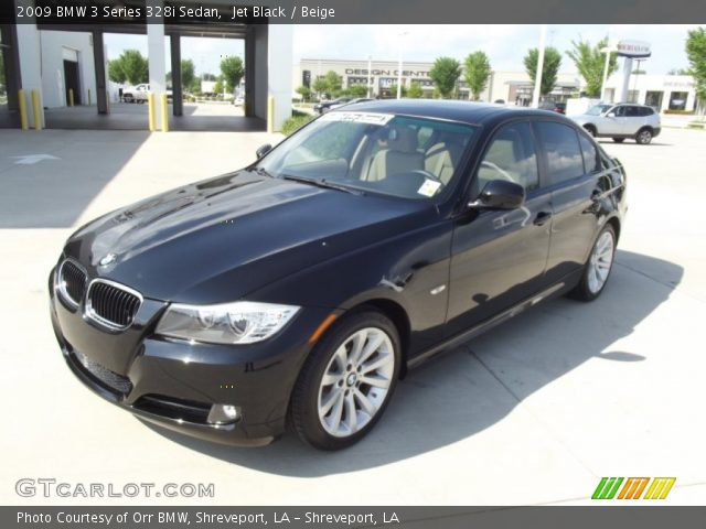 jet black 2009 bmw 3 series 328i sedan beige interior vehicle archive 64664105. Black Bedroom Furniture Sets. Home Design Ideas