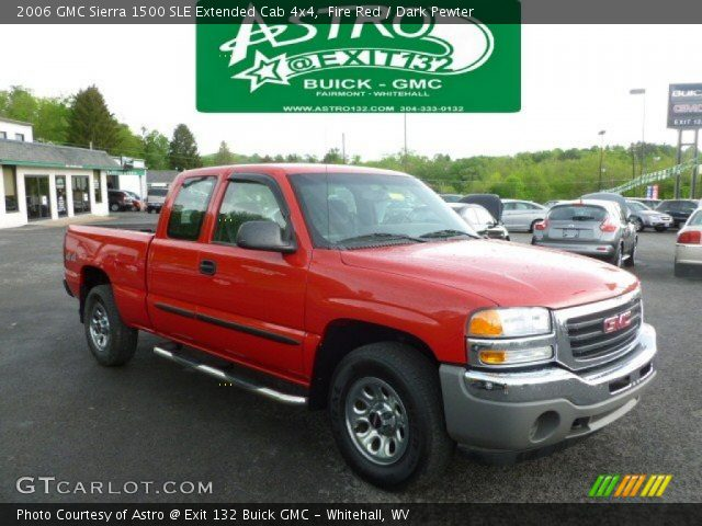 fire red 2006 gmc sierra 1500 sle extended cab 4x4. Black Bedroom Furniture Sets. Home Design Ideas