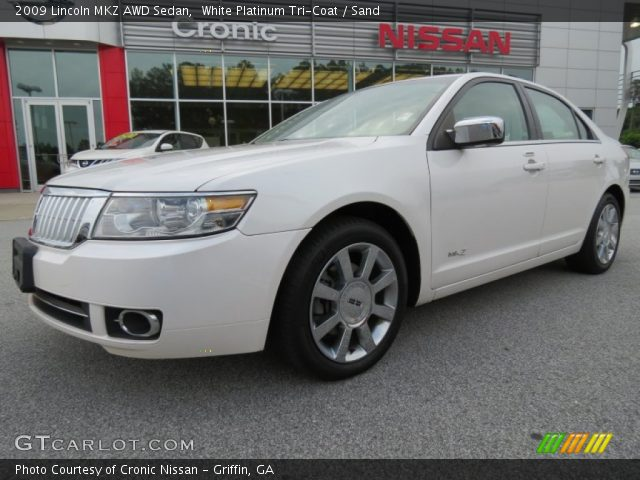 White Platinum Tri-Coat - 2009 Lincoln MKZ AWD Sedan - Sand Interior ...