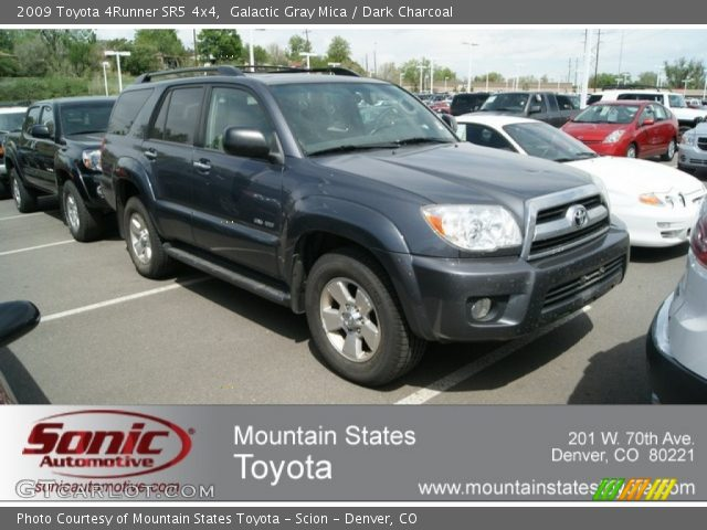 galactic gray mica 2009 toyota 4runner sr5 4x4 dark charcoal interior. Black Bedroom Furniture Sets. Home Design Ideas