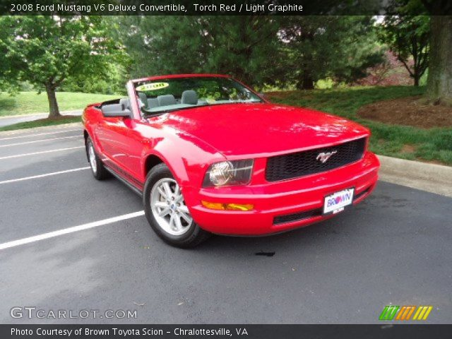 torch red 2008 ford mustang v6 deluxe convertible. Black Bedroom Furniture Sets. Home Design Ideas