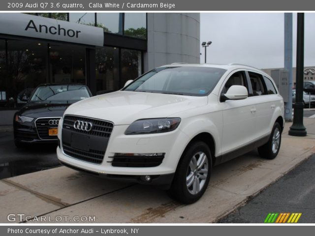 calla white 2009 audi q7 3 6 quattro cardamom beige interior vehicle. Black Bedroom Furniture Sets. Home Design Ideas