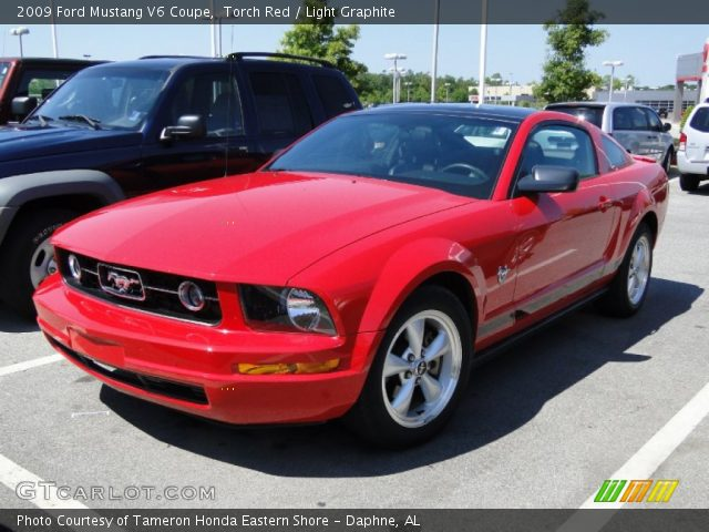 torch red 2009 ford mustang v6 coupe light graphite. Black Bedroom Furniture Sets. Home Design Ideas